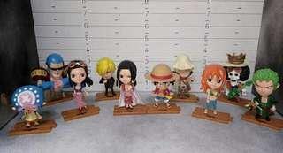 One Piece (Chibi Set) 10pcs. Straw hat pirates!