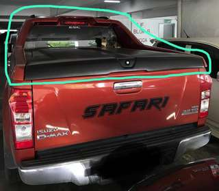 ISUZU D-MAX 45 Degree full set V-Lid top up deck cover c/w spoiler.