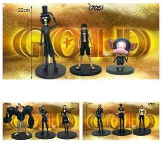 One Piece Action Figure (Black Suit) Complete set of straw hat pirates!