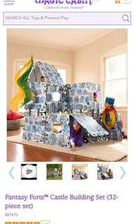 Magic cabin castle building set