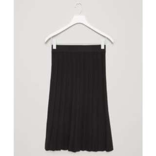 COS - Black Pleated Knit Skirt (XS)