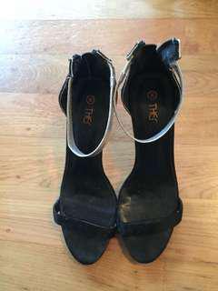 Dainty strap high heels
