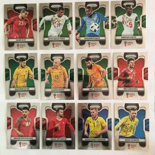2018 World Cup Panini Prizm Base Cards