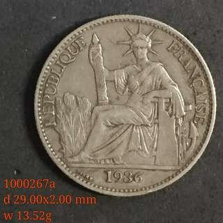 1936年坐洋 50 cents 銀幣