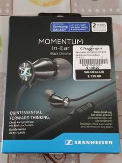 🚚 Sennheiser Momentum In-Ear G Earphones (Chrome Black - M2 IEG)
