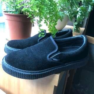 🚚 Vans黑色麂皮懶人厚底鞋