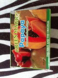 Green magic papaya herbal and organic soap