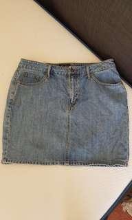 Bardot denim skirt size 14