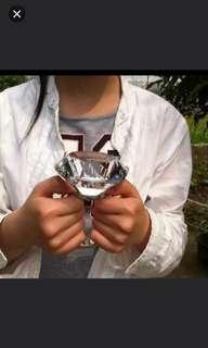 (2隻/2pieces) 珠寶首飾系列 (80mm巨型仿真鑽石大戒指,普款送錦盒) (homeone系列) (包Buyup自取站取貨) (fashion toy ring)