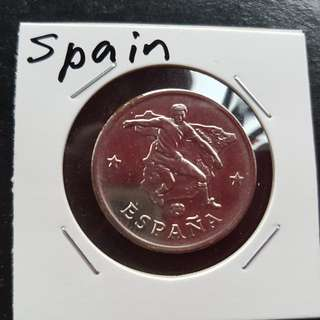 World Cup Medal Medallion token SPAIN #10  1990 by Caltex