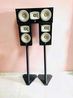 Yamaha Bookshelf Speakers & Center Speaker