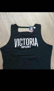Victoria Secret Sport Black Banded Tank Top Medium