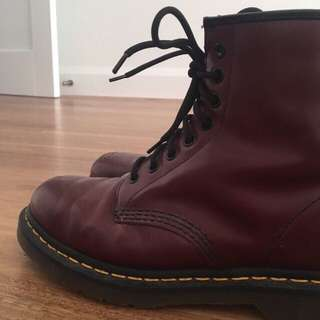 Cherry Red Dr. Martins