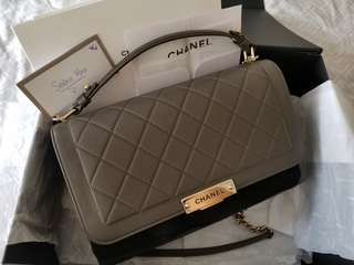 NEW Chanel Large Label Click Bag