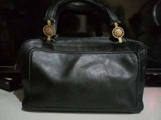 Vintage versace leather hand bag japan