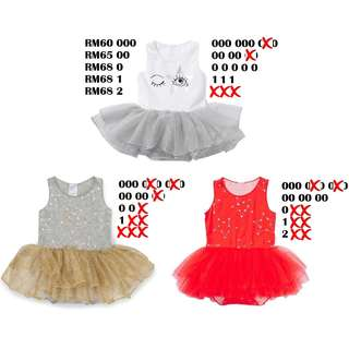 Bonds Baby Tutu Dress Size 000 00 0 1 2