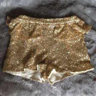 Shiny Gold Shorts