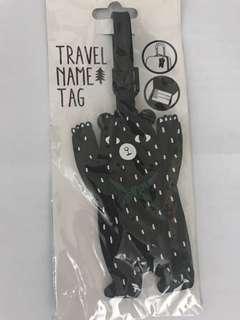 全新韓國熊仔行李牌 (Bear Travel Name Tag)