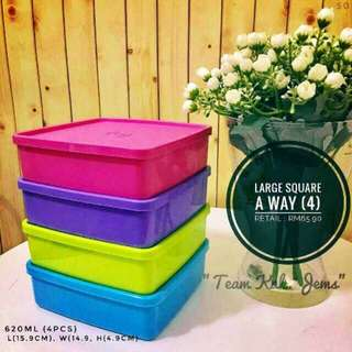 Large square away lime 660 tupperware