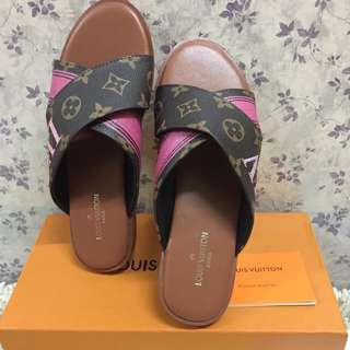 Louis vuitton slip ons slippers shoes