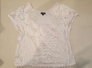 Express lace white blouse