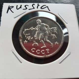 World Cup Medal Medallion token RUSSIA #24  1990 by Caltex