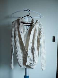 White knit outerwear