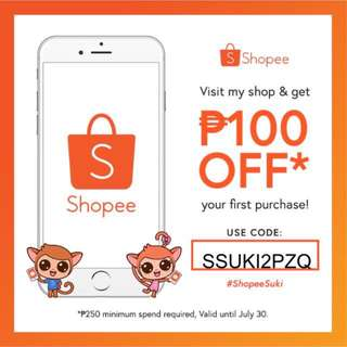 ₱100 SHOPEE DISCOUNT VOUCHER FOR ALL! (VALID SITEWIDE!) 😍