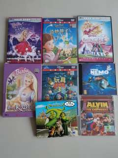 Barbie & Assorted DVD/VCD/Soundtrack