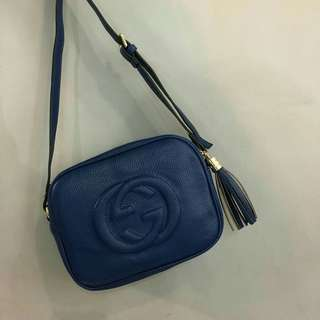 Gucci Soho Disco Sling Bag Blue
