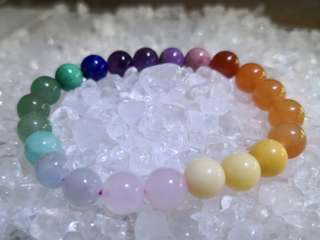 🚚 Rainbow crystals bracelet 多宝石手链 ~8.5mm