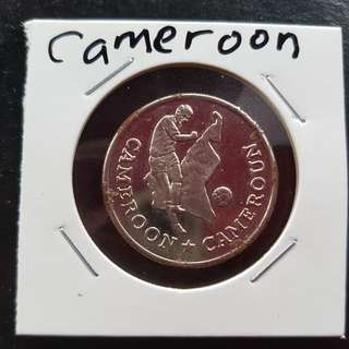 World Cup Medal Medallion token CAMEROON #5  1990 by Caltex