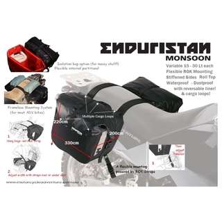 Enduristan Monsoon 3 Soft Pannier Saddlebag Luggage