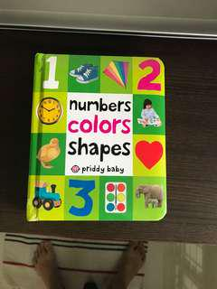 Numbers colours shapes by Priddy Baby