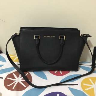 PRELOVED AUTHENTIC MICHAEL KORS SELMA LARGE BLACK