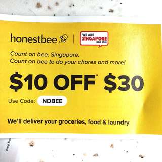 🚨Honestbee 🐝 Food Code $10 for food orders with minimum spending of $30 + Additional $10 credit using my link to register! #Blessings