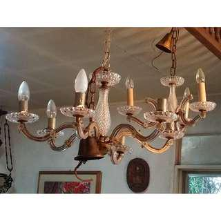 2-sets of chandelier (3-bulb and 6-bulb; lot)