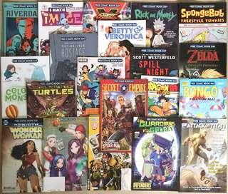 Highly Collectable 'Comic Book Day' 2017 - 20 titles!