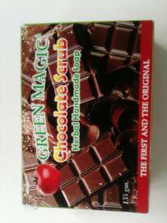 Green magic chocolate scrub
