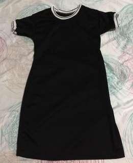 Black Ringer Dress