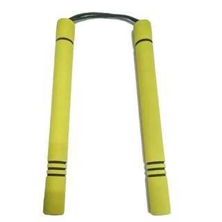 Yellow Foam Paracord Training Nunchaku
