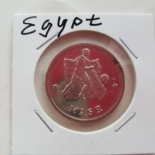 World Cup Medal Medallion token EGYPT #17  1990 by Caltex