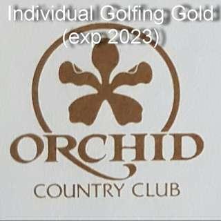 Orchid Club Individual Golfing Gold Membership
