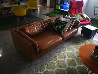 3 seater camel colour sofa