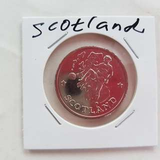 World Cup Medal Medallion token SCOTLAND #19  1990 by Caltex