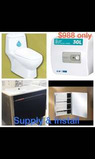 Toilets Accessories supply n installation