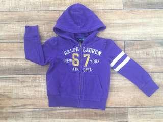 Ralph Lauren kid's fleece jacket (PURPLE)