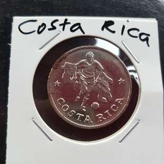 World Cup Medal Medallion token COSTA RICA #15  1990 by Caltex