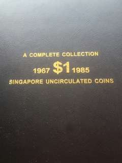 Complete UNC Merlion $1 1967 to 1985