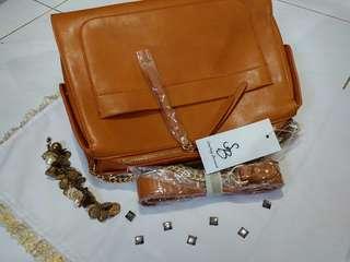 Something borrowed metal chain strap bag
